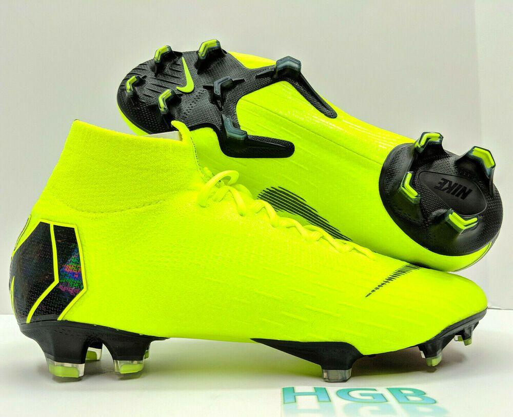 more photos 5255e 9c6e8 eBay  Sponsored Nike Superfly 6 Elite FG Mens Soccer Cleats Futbol Volt  Black AH7365-701 NIB