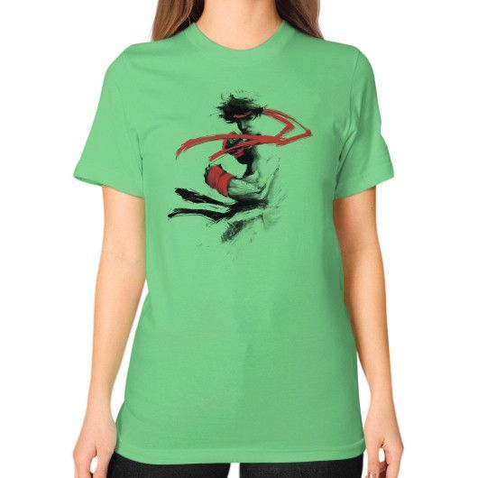 Childhood Hero Unisex T-Shirt (on woman)
