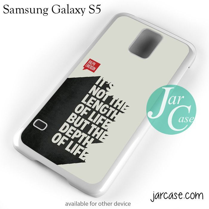 Samsung Quote Mesmerizing Ralph Emerson Quotes Phone Case For Samsung Galaxy S3S4S5 . Decorating Inspiration