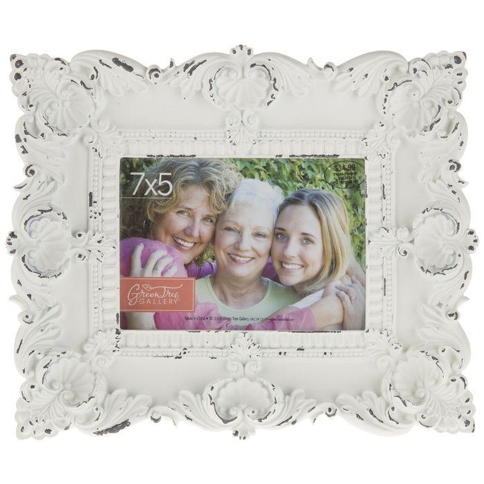 White Ornate Frame 5 X 7 White Picture Frames Frame Picture Frames