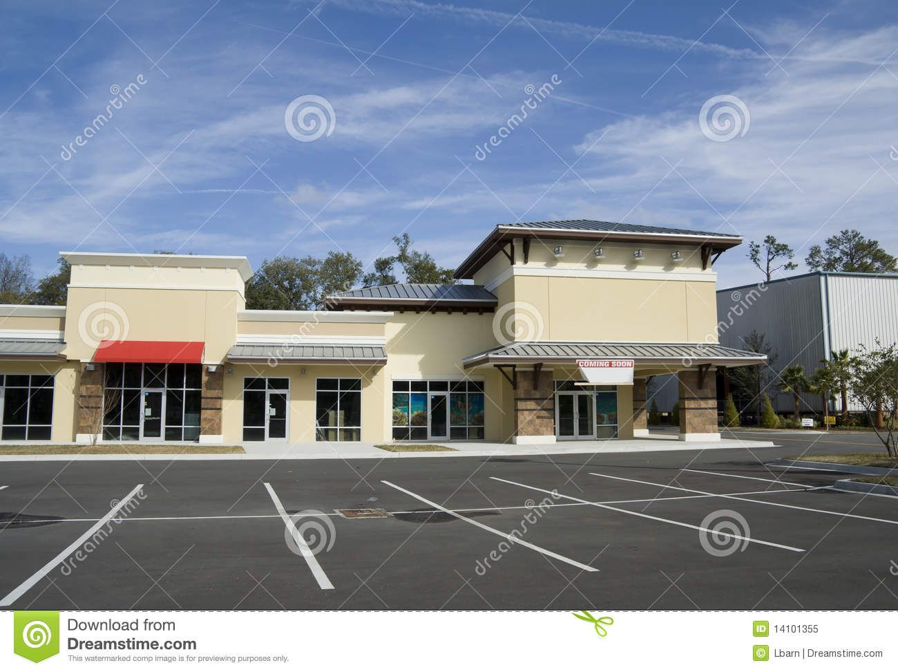 Upscale Beige Strip Mall Strip Mall Upscale Estates