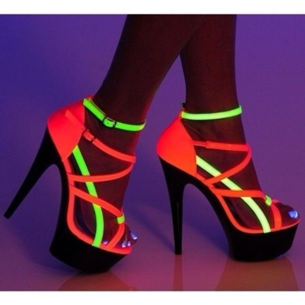 Find Out Where To Get The Shoes | Neon, High heel and Dark
