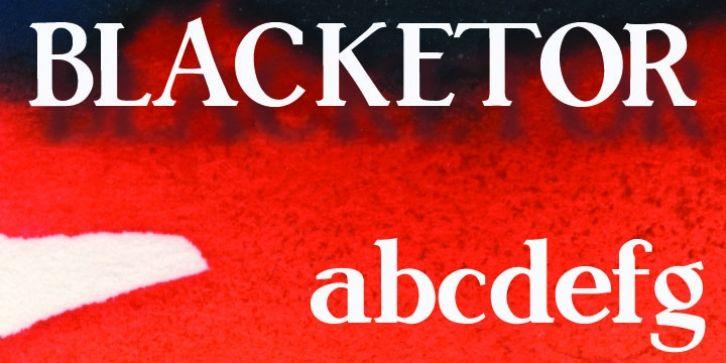 Blacketor font download