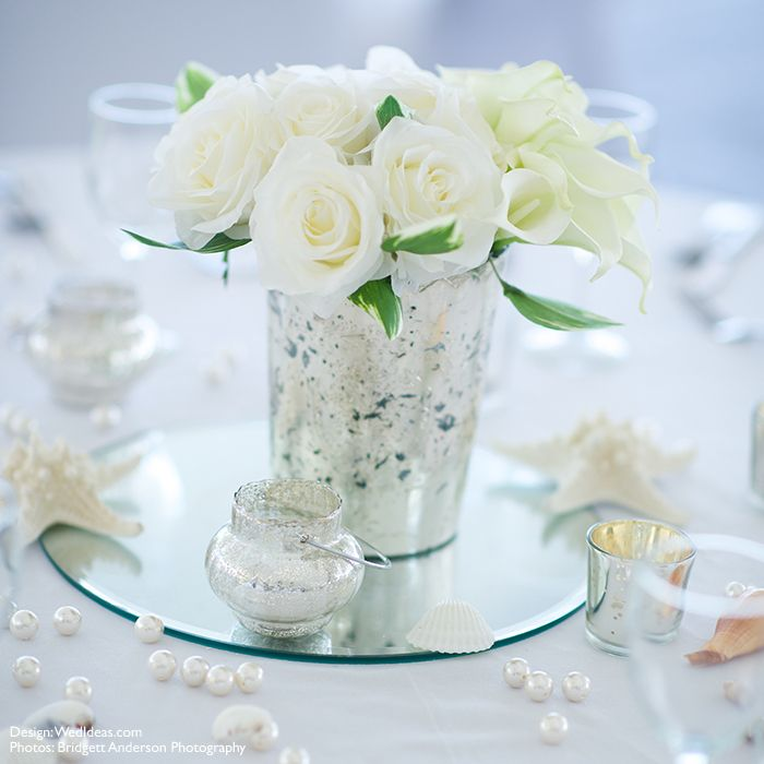 Round Mirror Wedding Decor