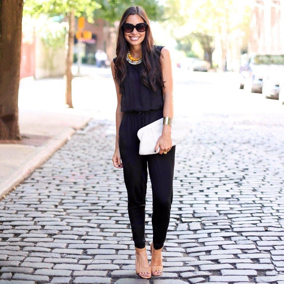 Easy black jumpsuit