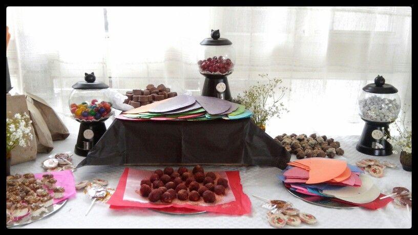 Mesa de dulces gatos!!