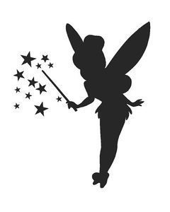 Plantilla De Tinkerbell Silueta De Hadas Siluetas Disney Campanilla Dibujo