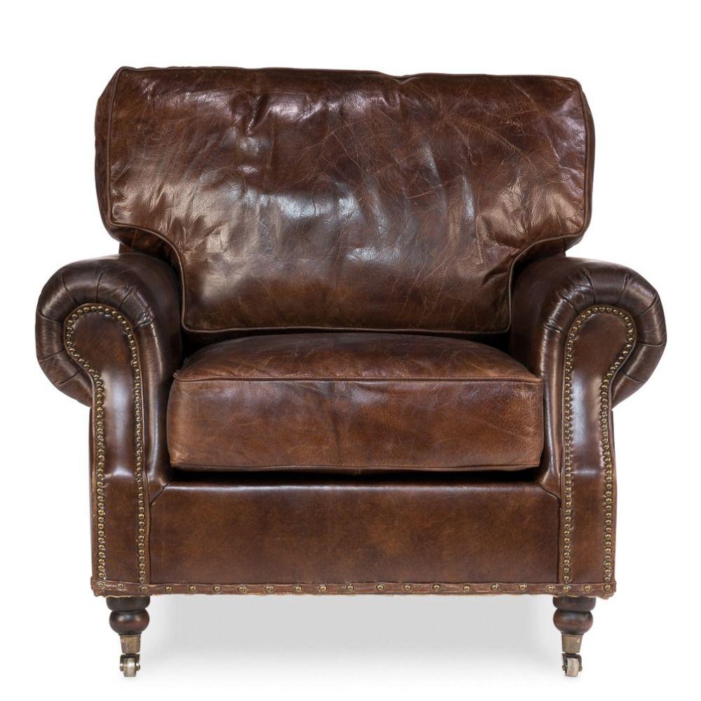 Miraculous Vintage Loft Genuine Leather Club Casters Chesterfield Chair Spiritservingveterans Wood Chair Design Ideas Spiritservingveteransorg