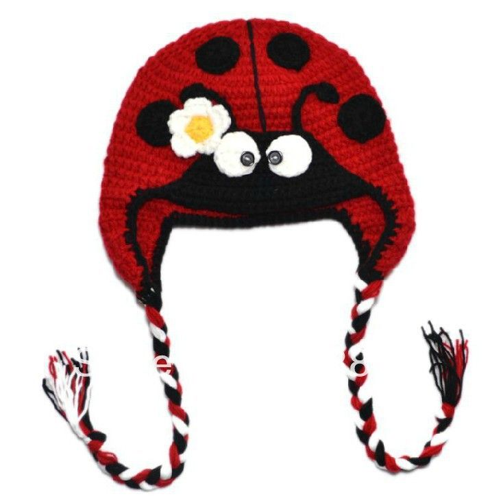 Ladybug Hat Crochet Pattern — Crafthubs | Baby hats | Pinterest ...