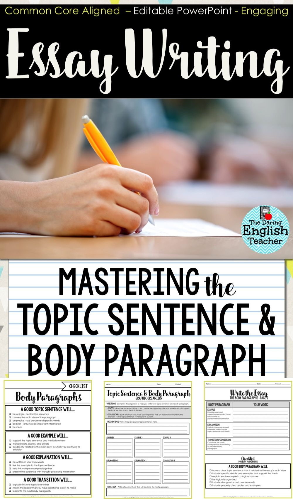 Delicieux Essay Writing: Mastering The Introduction And Thesis Statement. Teach Your  Middle School And High School English Students How To Write Amazing Thesis  ...