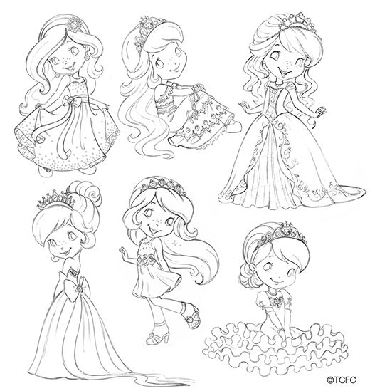 Astrofan1 stamps digi stamps and digital image for Strawberry shortcake princess coloring pages