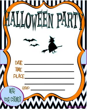 Halloween Invitation Templates Free Printable | Halloween ...