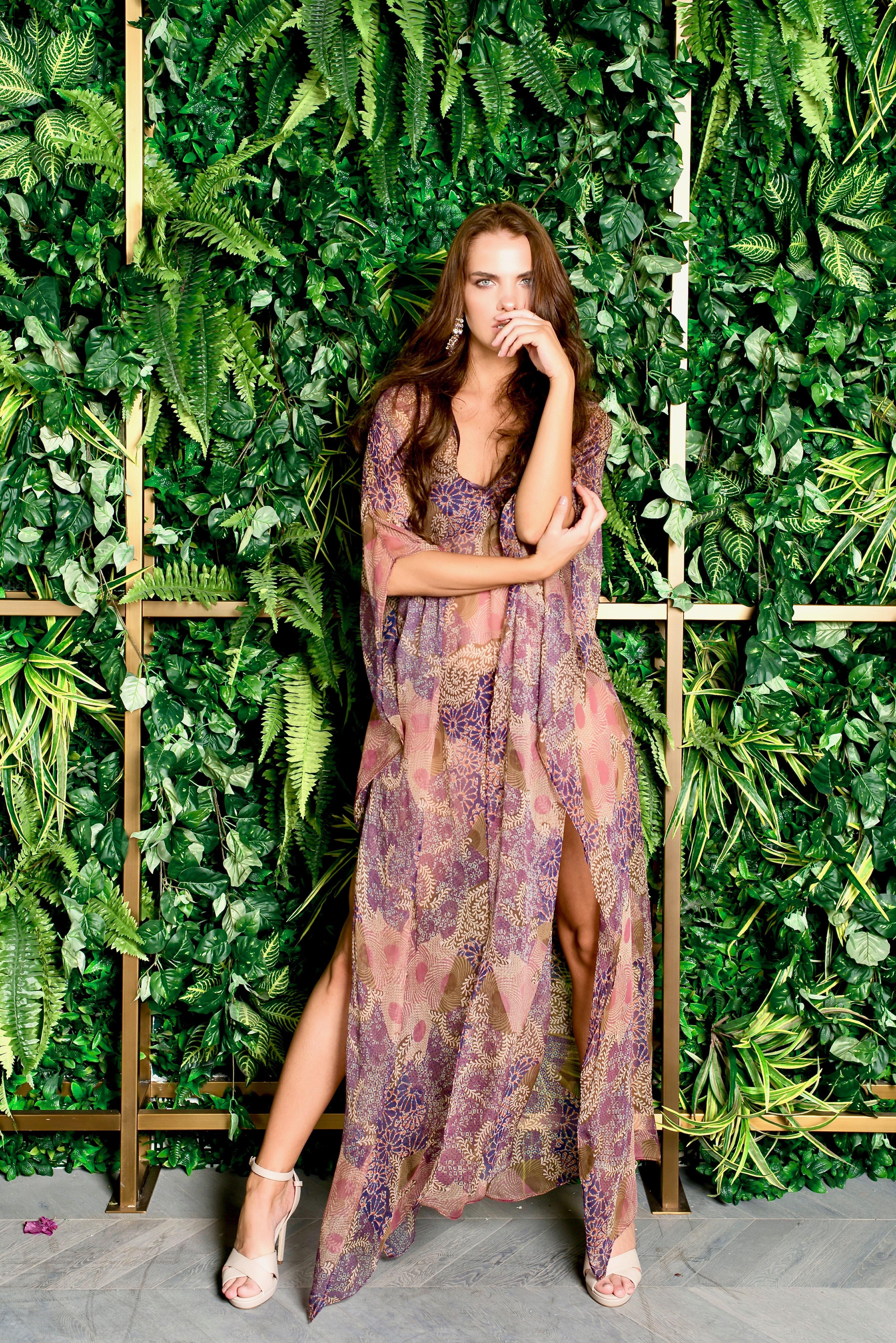 7313150b2 Silk chiffon, resort wear, luxury resort wear, swimwear, coverup, luxury,