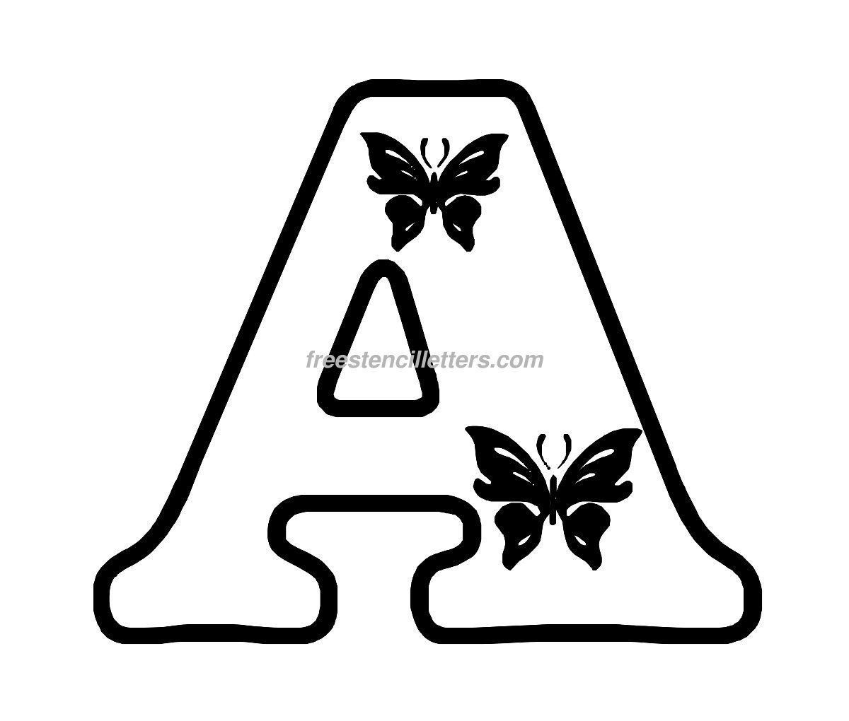 Free Butterfly Stencils to Print | Print A Letter Stencil | Free ...