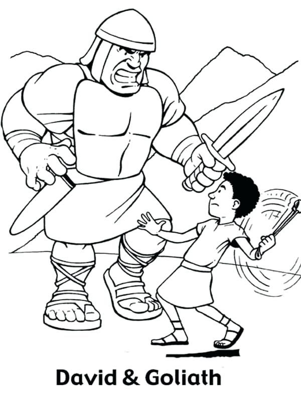 david and goliath coloring pages and coloring page and coloring