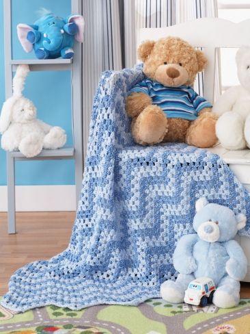 Waves Granny Manta | lana | Patrones Que Hacen Punto Libre | Crochet ...