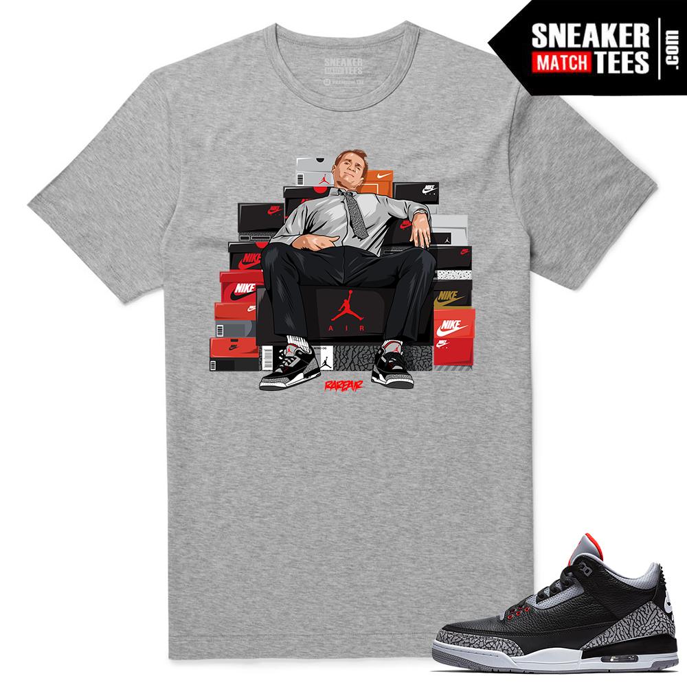 Jordan 3 Black Cement Sneaker tees