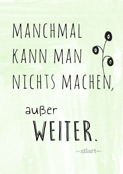 Weiter machen, Lettering Card, Quote Art, Word Art, Statements ...