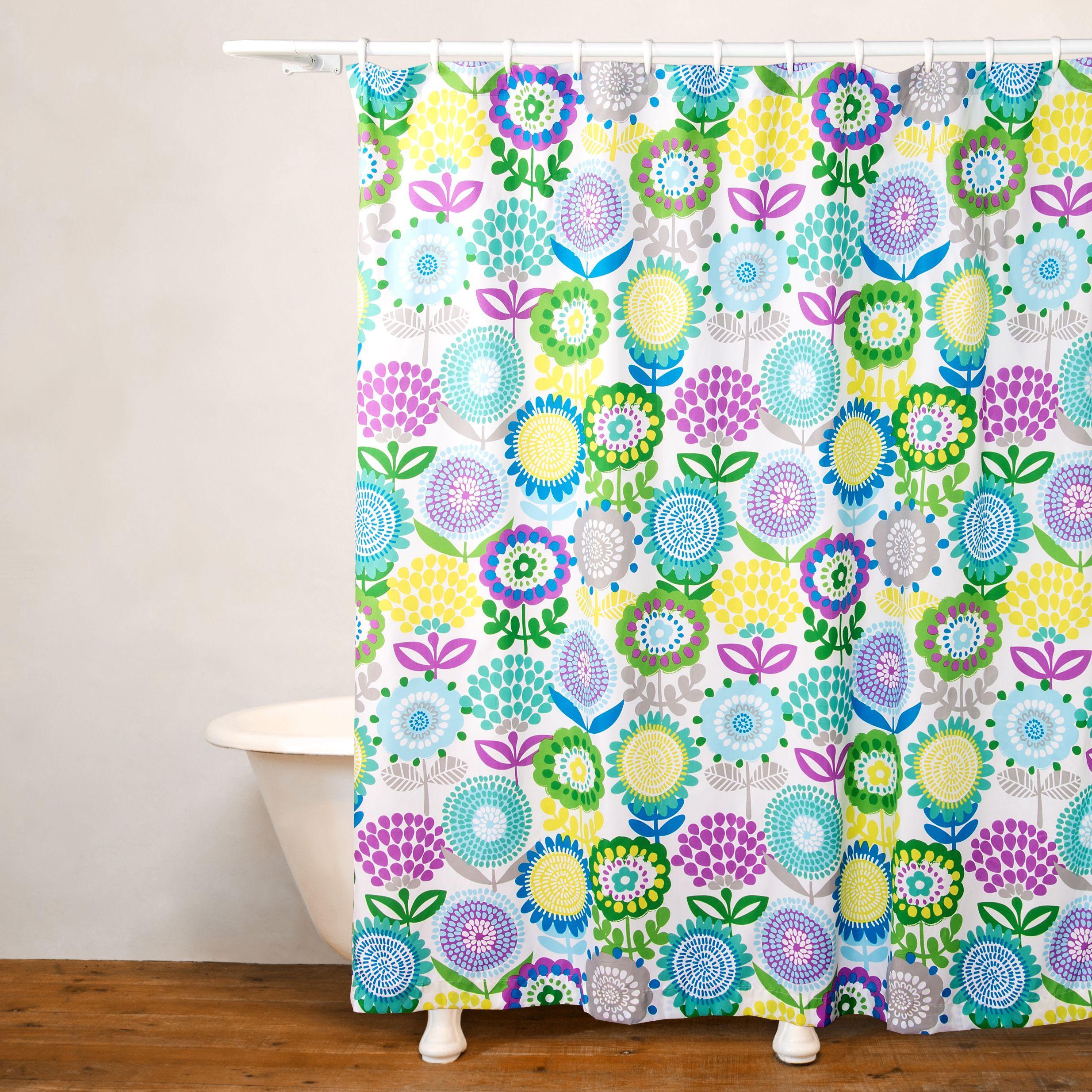 Crayola Pointillist Pansy No Liner Shower Curtain Purple