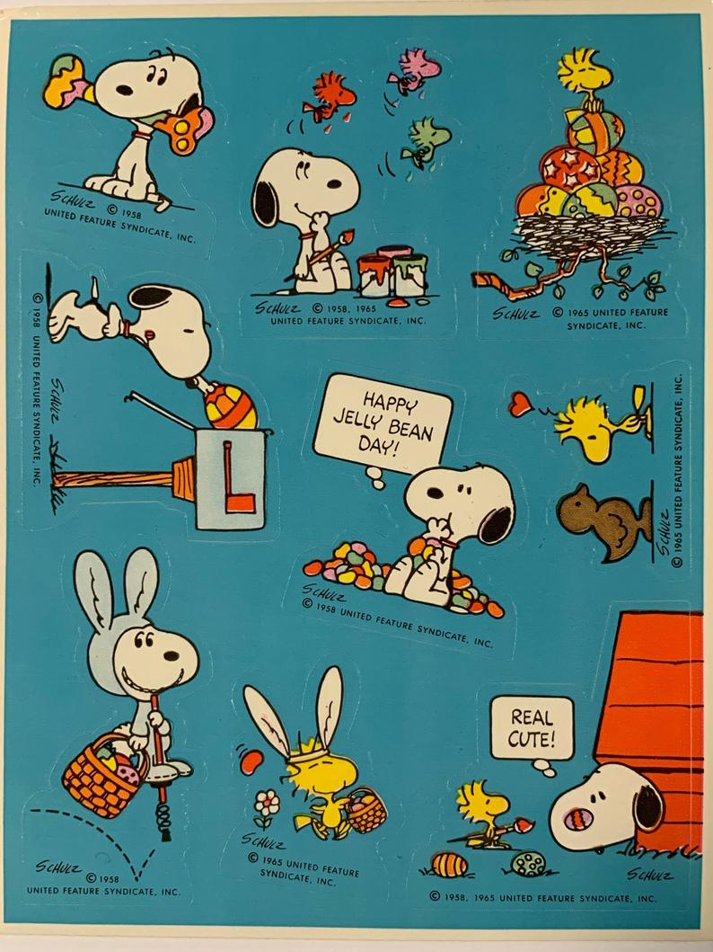 Snoopy Dancing Sticker United Feature Syndicate Vintage Peanuts Collectible