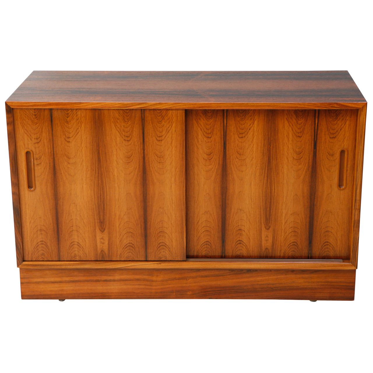 Rosewood cabinet furniture storage sliding door and danish