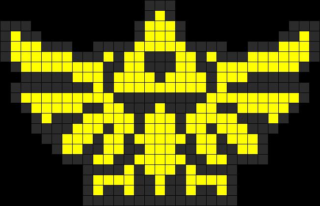 Small Hyrule Crest Perler Bead Pattern / Bead Sprite