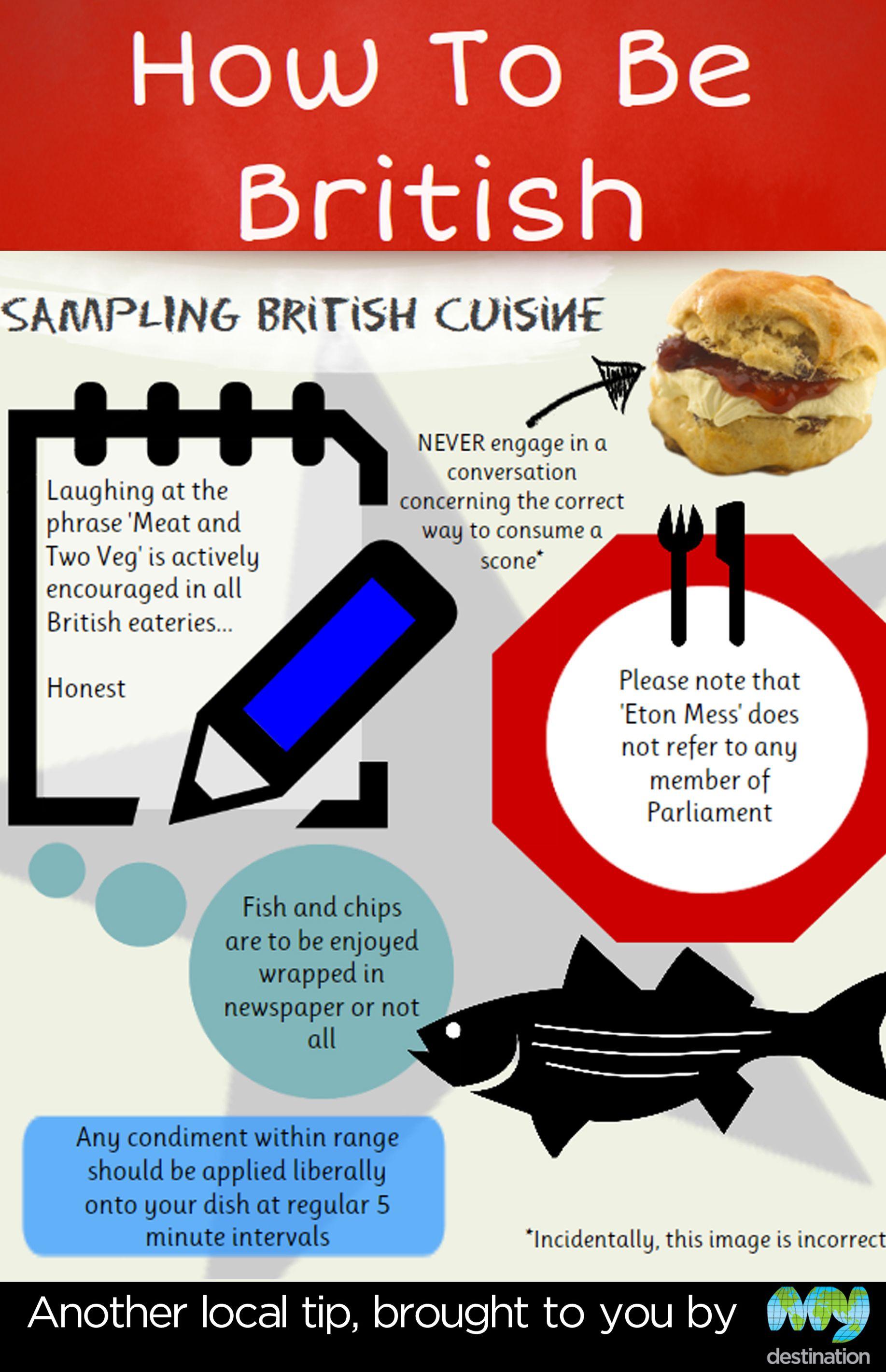 How To Be British - Sampling British Cuisine - it forgot to