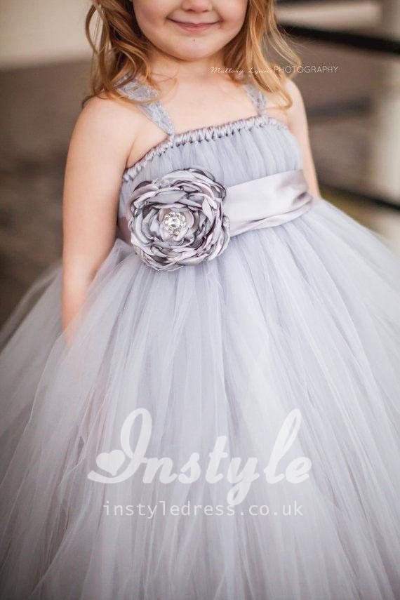 Spaghetti Strap Flower Girl Dresses