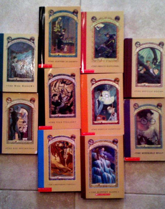 """We already owned the first book in """"A Series of Unfortunate Events,"""" and at a yard sale on Friday we managed to pick up the next 10 for just a few bucks."""
