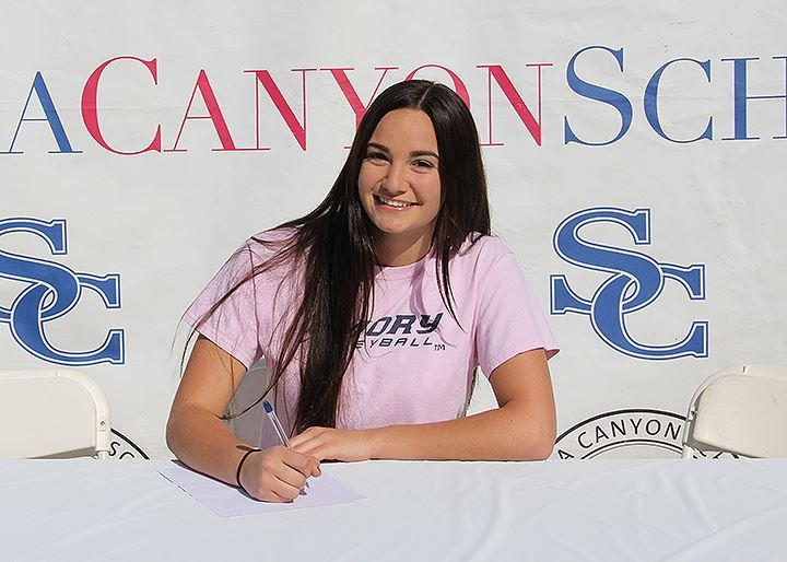 Carly Saitman Committed To Playing Volleyball At Emory University Emoryuniversity Emoryvolleyball Sierracan National Signing Day Trailblazer Play Volleyball