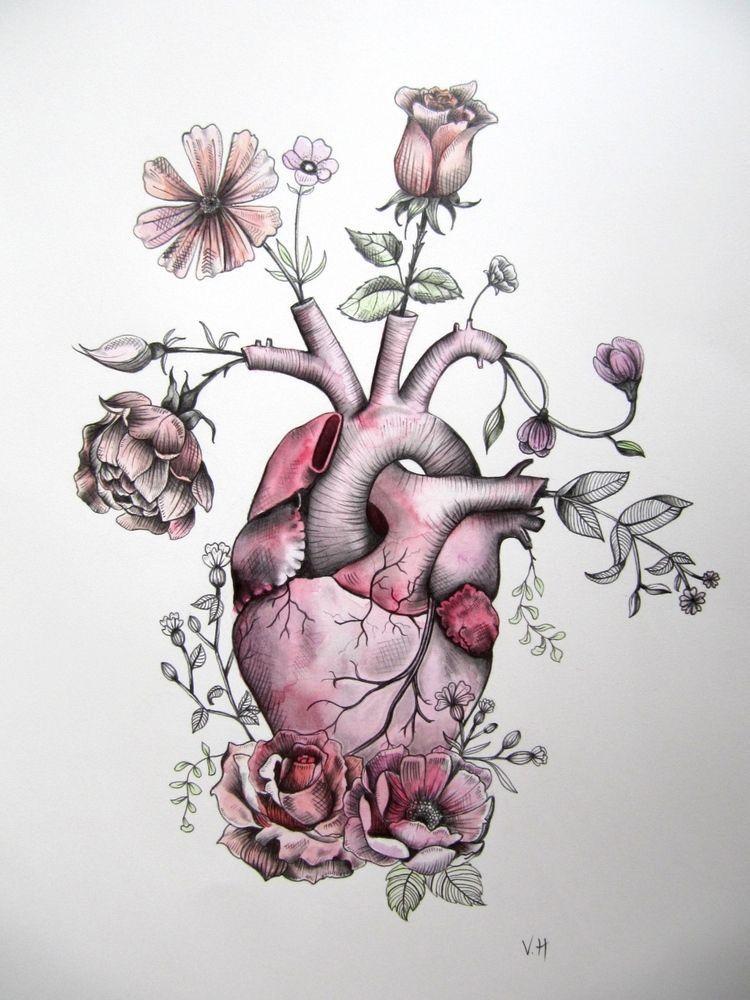 Pin von ❖ KC ❖ auf Heart Beat❖❖   Pinterest   Tattoo ideen, Herz ...