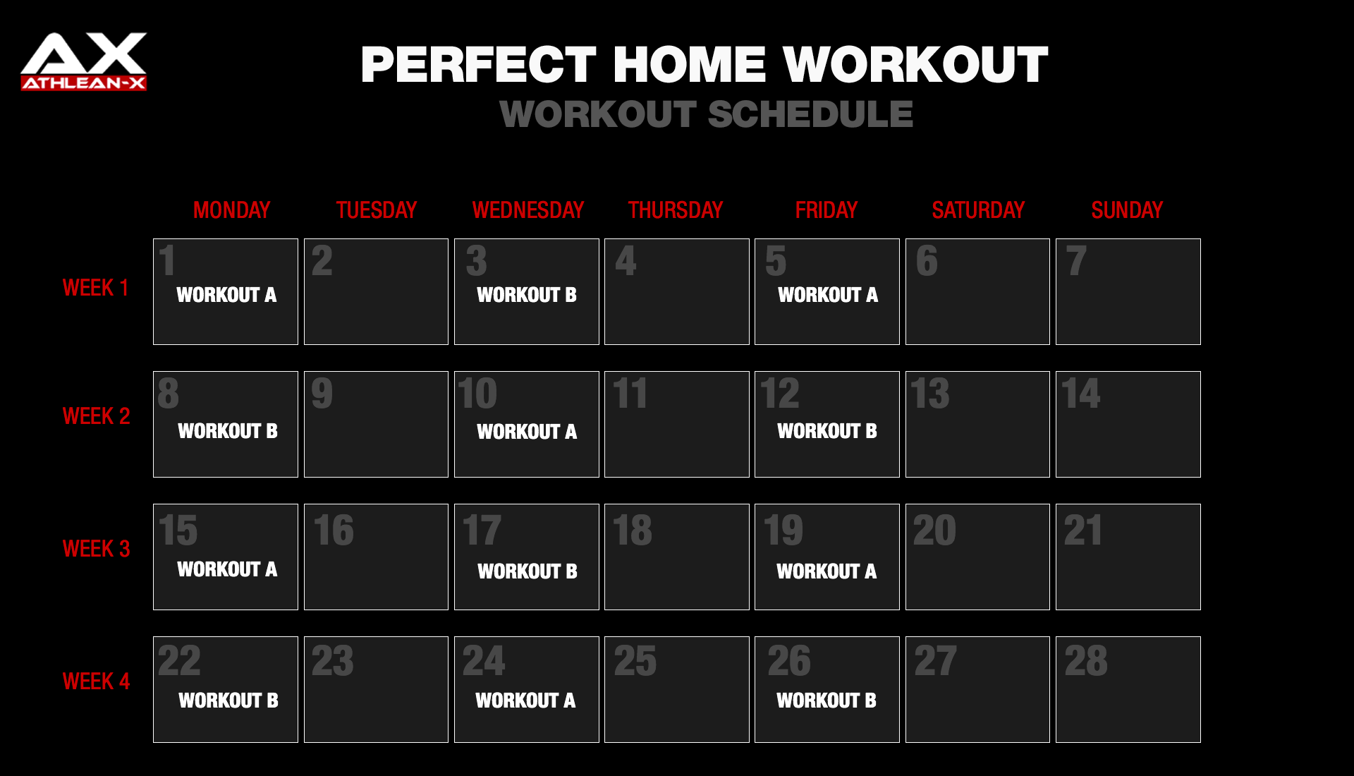 The Perfect Home Workout Athlean X Body Workout At Home At Home Workouts Full Body Workout Program