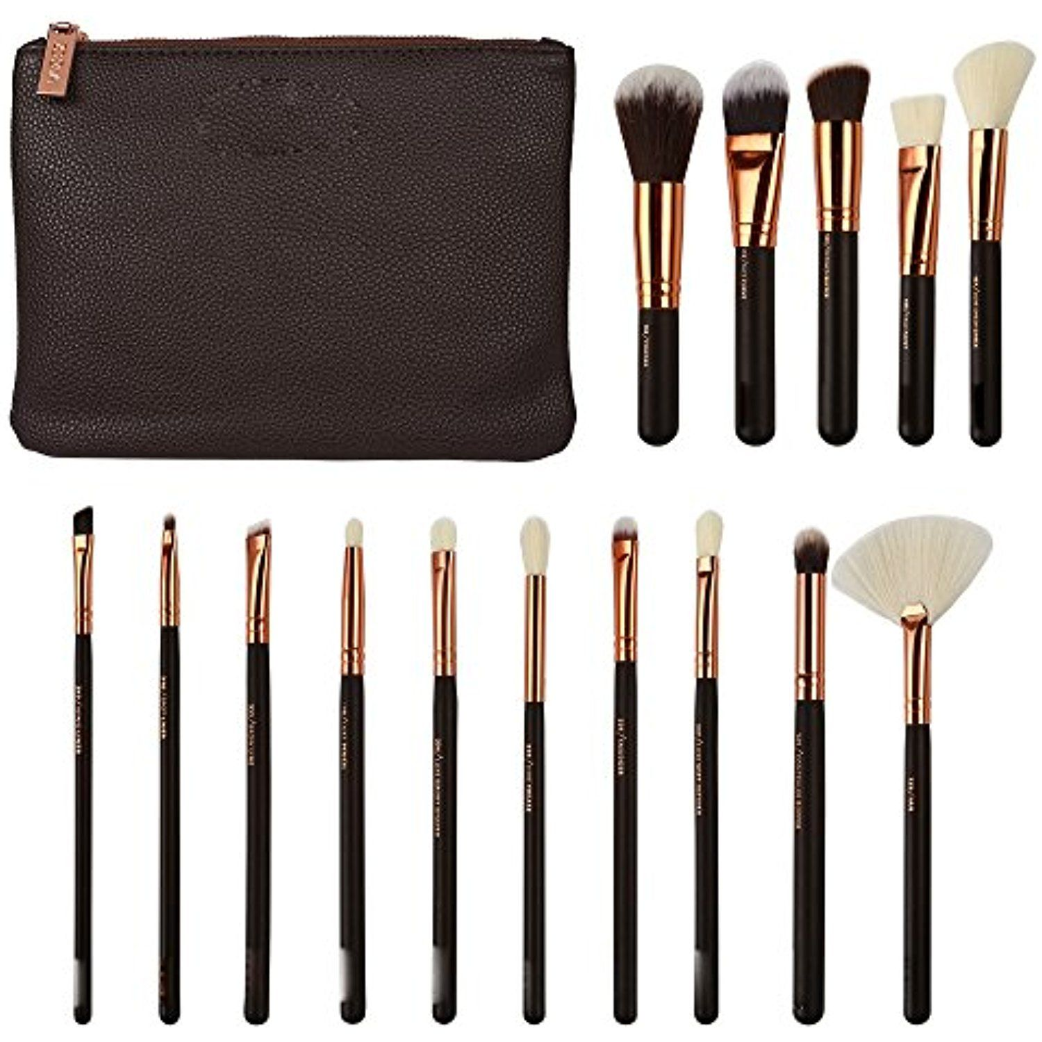 Zoe Complete Face And Eye Makeup Brush Set With Case 8 /12