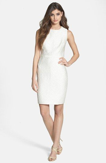 Halston Heritage Jacquard Sheath Dress available at #Nordstrom