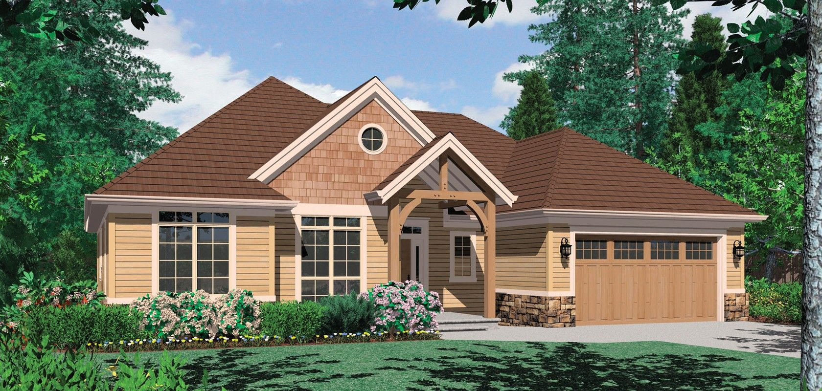 Mascord House Plan 1149b The Pendleton Craftsman Style House Plans House Plans Craftsman House
