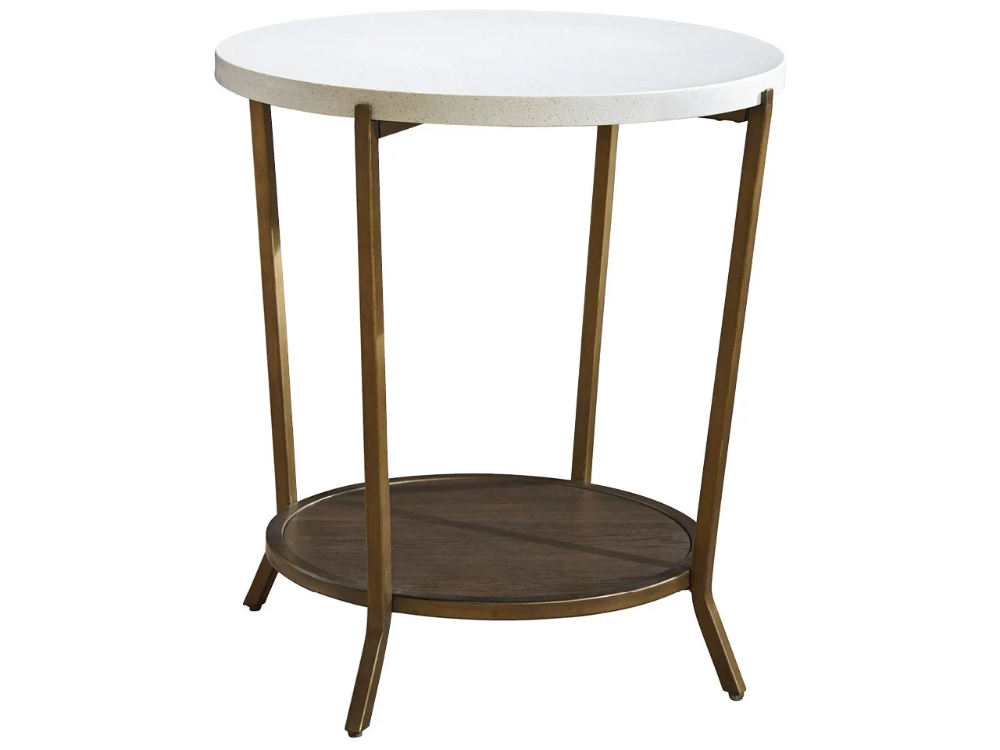 Playlist Round End Table Universal Furniture Stone Top Side Table Universal Furniture End Tables