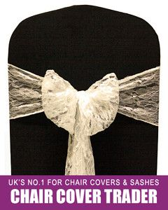 chair covers ebay uk pier one blue accent chairs 100 ivory lace cover bow sashes for weddings party 149