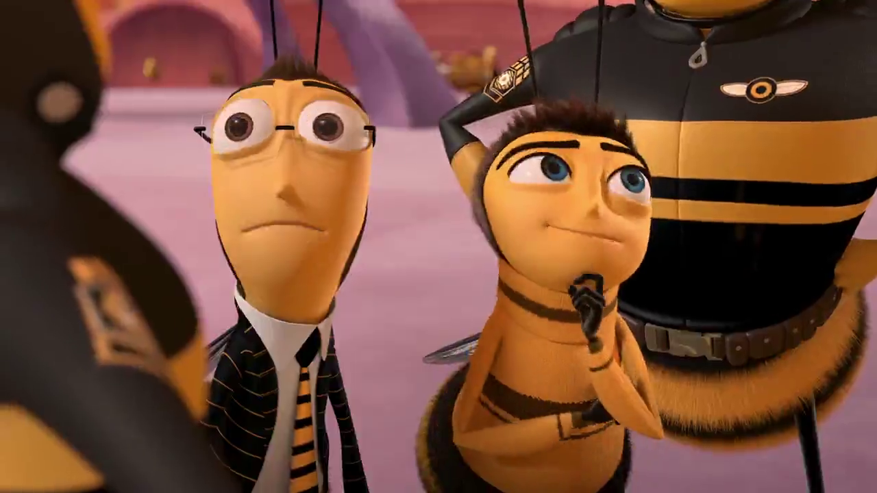 Bee Movie Barry B Benson A Bee Just Graduated From College Is Disillusioned At His Lone Career Choice Maki Bee Movie Bee Movie Characters Barry Bee Benson