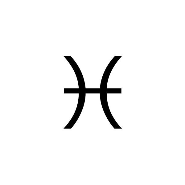 The Symbol For The Constellation Pisces Ryby Pinterest Pisces
