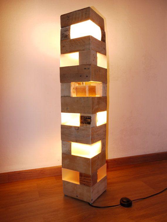 Pallet Floor Lamp Luminaria De Madeira Luminaria De Chao