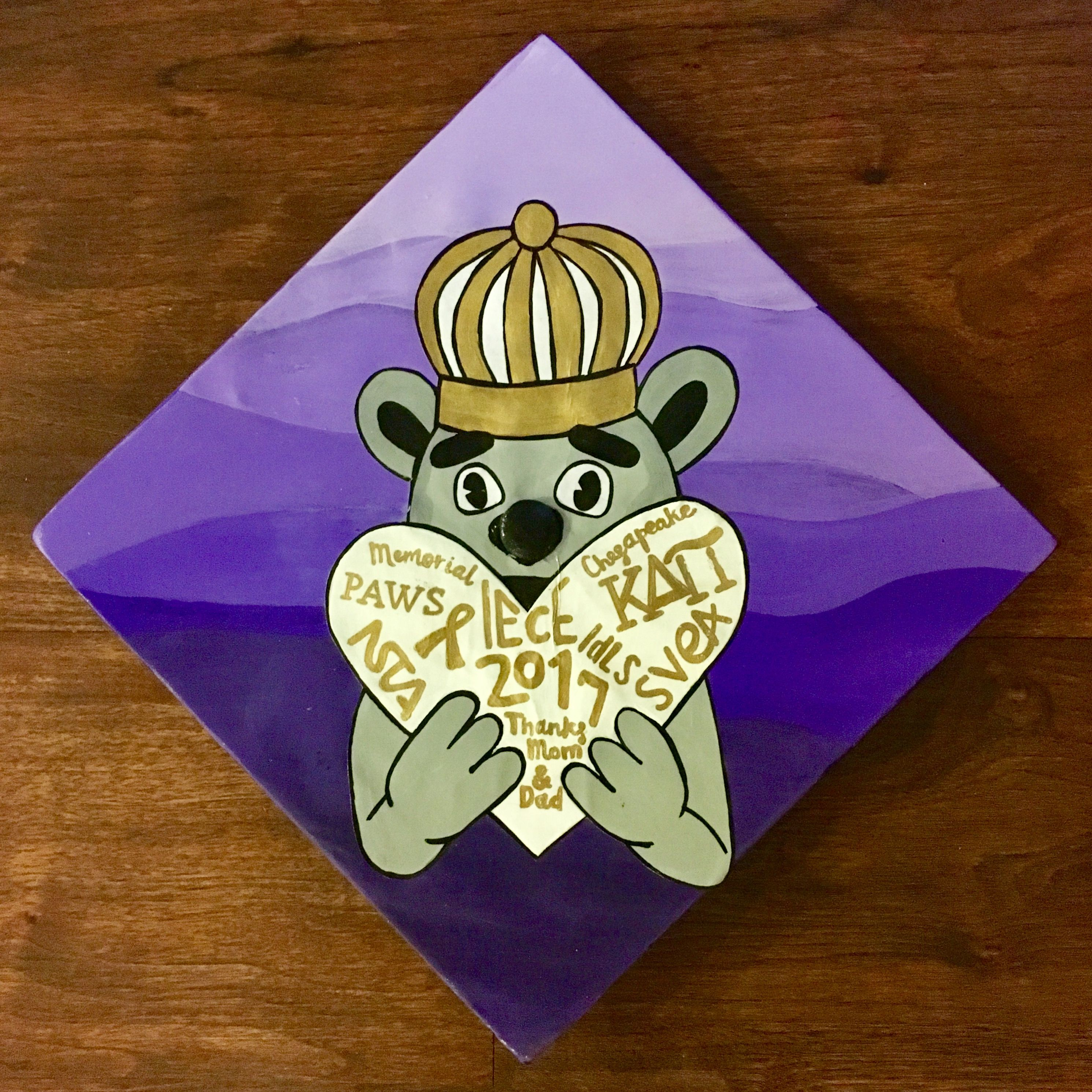 JMU grad graduation cap mortar board Duke Dog heart Go Dukes James ...