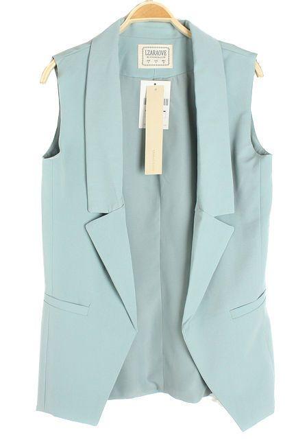 62a73a7752b0 CT70 Celebrity Style Women Pastel Tuxedo Vest Waistcoat Sleeveless Blazer Jacket  Vest Tops Coat Plus Size Free Shipping