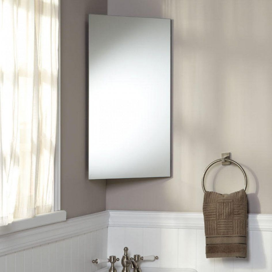 Bathroom Corner Bathroom Cabinet With Mirror And Curtain Also Towel As Well As Faucet Va Corner Medicine Cabinet Corner Bathroom Mirror Bathroom Mirror Cabinet