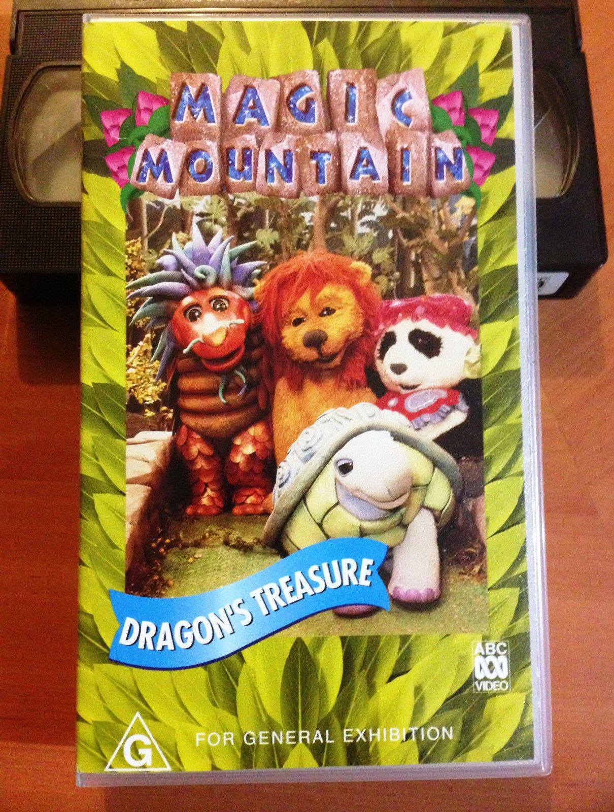 magic mountain dragon u0027s treasure abc for kids vhs childhood