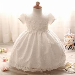 Toddler Baby Girls Party Wedding Baptism Christening Gown Princess Dresses 0-24M