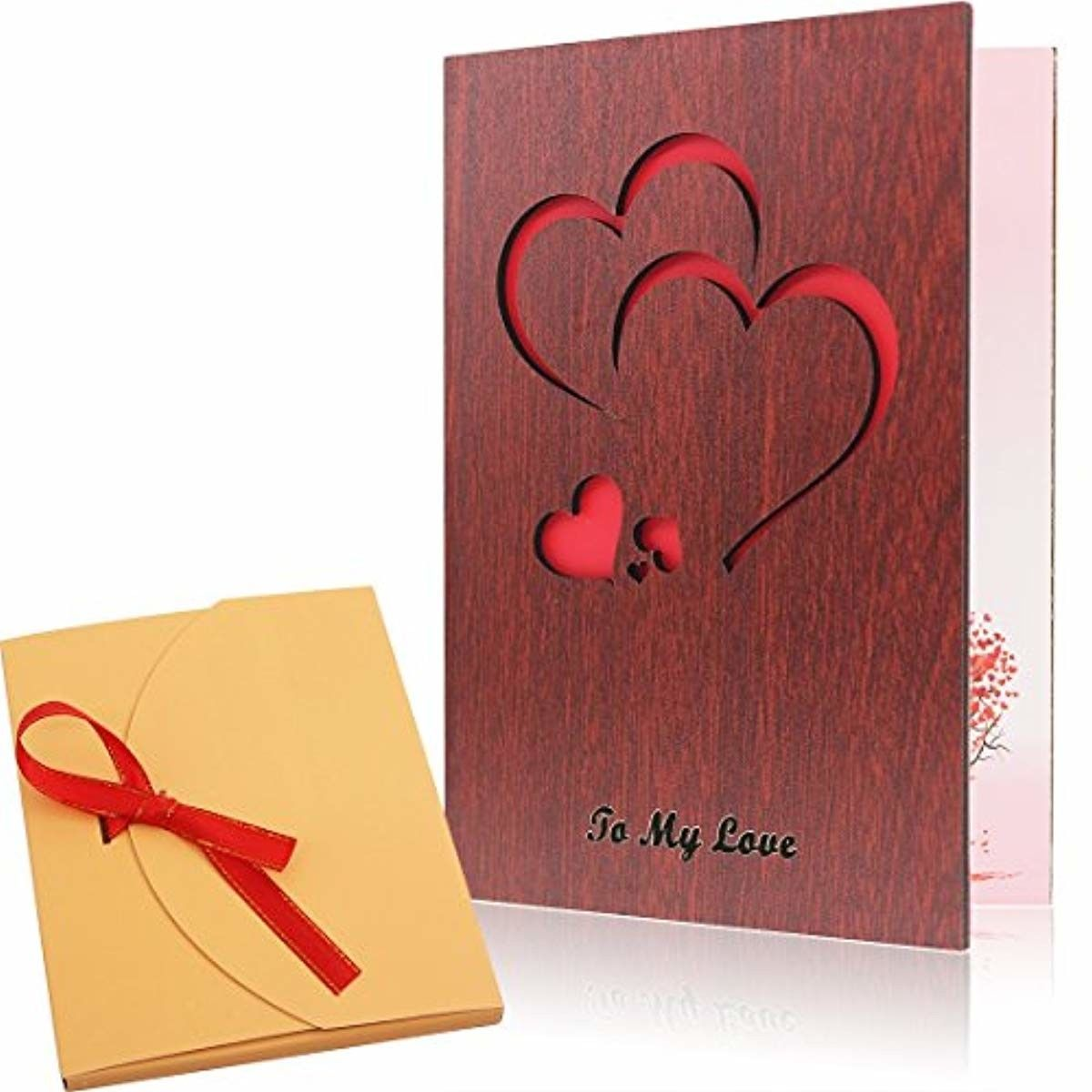 Details About Handmade Wood Love Valentine S Day Card With Unique
