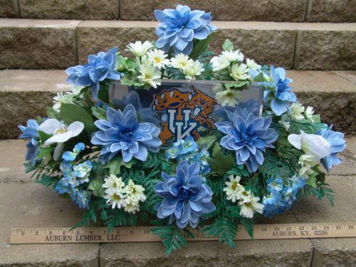 Cemetery Saddle Arrangement Silk Memorial Flowers Uk
