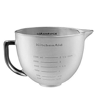 Charming KitchenAid 5 Quart Frosted Glass Tilt Head Stand Mixer Attachment