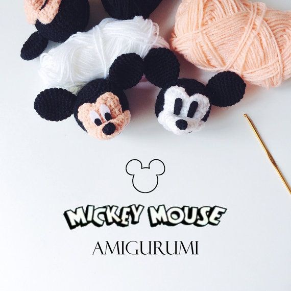 Mickey Mouse (Head) Amigurumi Crochet Pattern PDF **This is a CROCHET PATTERN and NOT the finished toy**    Created by : MintyHandmade    Finished