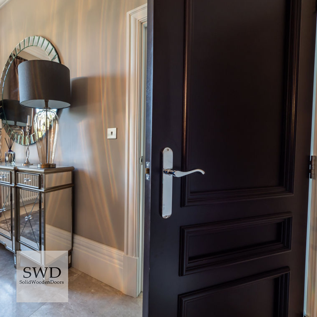 R137 Dark Stained Walnut Internal Doors External Wooden Doors Solid Wood Front Door